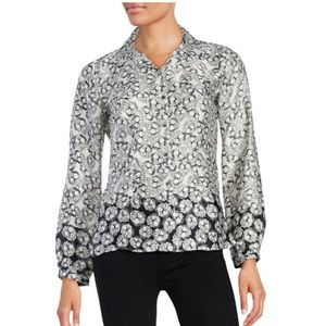Laundry by Shelli Segal Floral Bloom Blouse